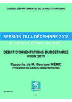 ODJ Session du 4 Décembre 2018